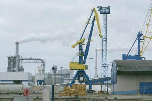 Wismar, Cranes, Port, Germany, Harbor, Cargo