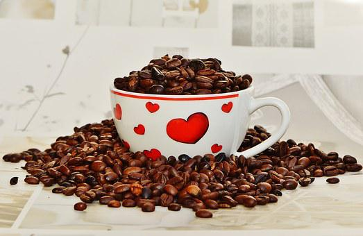 Coffee, For Two, Love, Heart, Cup, Valentine's Day