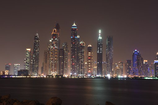 Dubai, Luxurious, Architecture, Business, Night