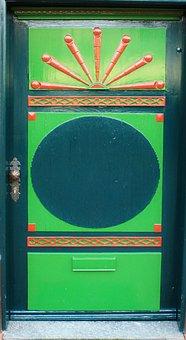 Door, Antique Door, Fachwerkhaus, Green
