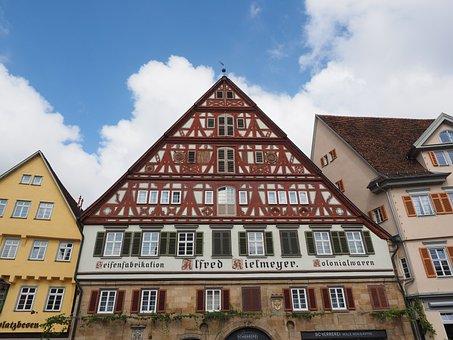 Esslingen, Historic Center, Fachwerkhaus, Truss