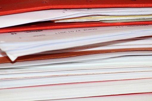 Files, Aktenberg, Work Off, Paper, Folder, Stack, Sort