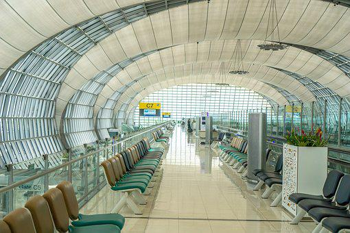 Airport, Gate, Flight, Suvarnabhumi Airport, Thailand