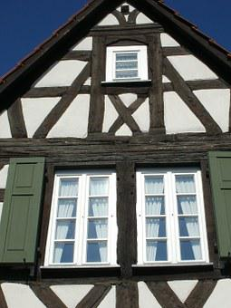 Window, Shutters, Timber, Framing, Schwetzingen, House