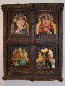 Picture Frame, Wood, Decorated, Carving, Frame, Image