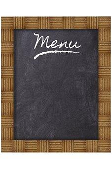 Frame, Wood, Board, Menu, Restaurant, Eat, Slate