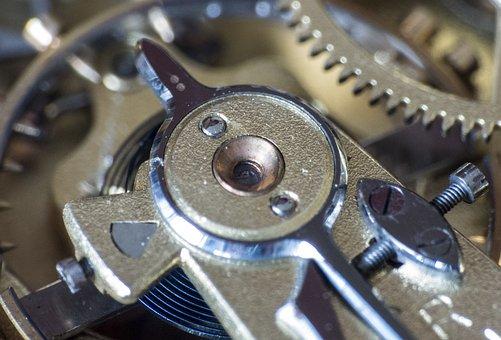 Clock, Movement, Gears, Transmission, Horology