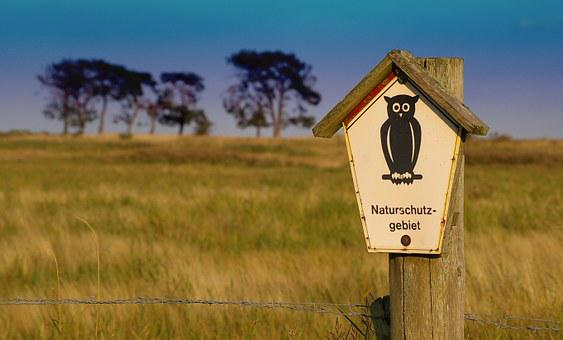 Nature Reserve, Unaffected, Sign, Nature, Note