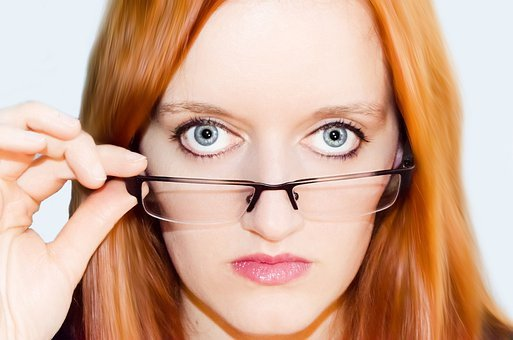 Woman, Women, Glasses, Optical, Face, Eyes, Eye, Look