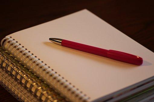 Pen, Paper, Notebook, Business, Office, Blank
