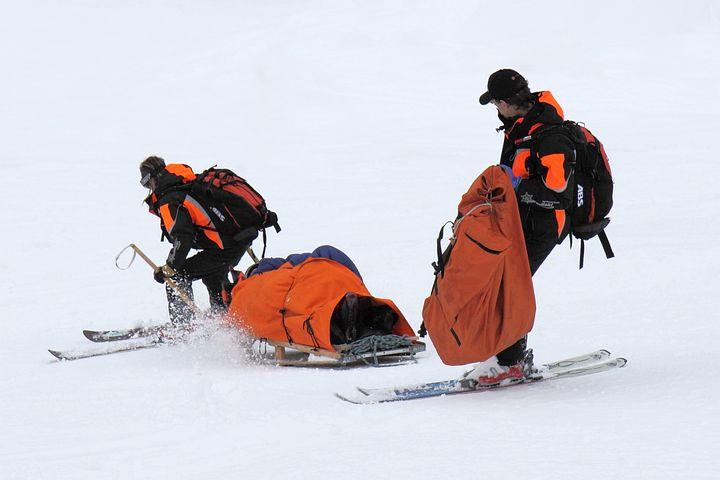 Ski, Patrol, Winter, Rescue, Safety, Red, Aid, Rescuer