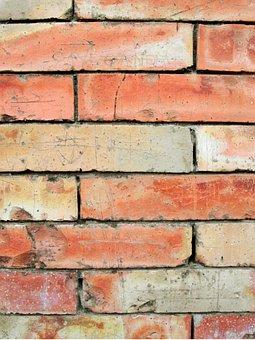 Brick Wall, Background, Texture, Pattern, Red, Orange