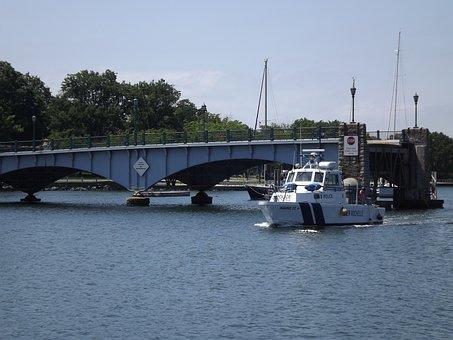 Boat, Ship, Sailing, Police, Police Boat, Patrol Boat