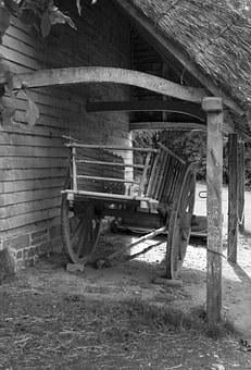 Ox Cart, Timber Construction, Shelter, Barn