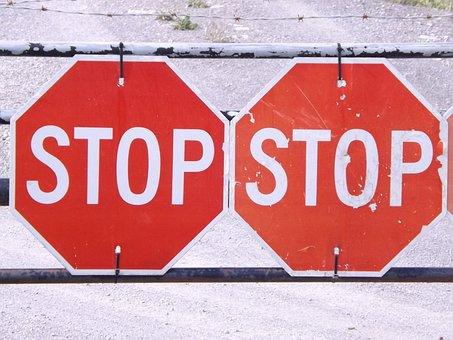 Stop, Halt, Road Sign, Sign, Red, Symbol, Warning, Road
