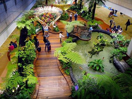 Singapore, Changi Airport, Tourists, Terminal