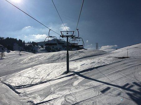 Snow, Ski, Alpine Skiing, France, Mountain, Chair Lift