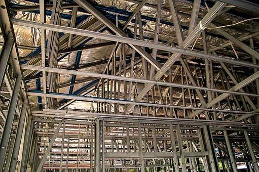 Steel Frame, Frame, Geometric, Steel, Lines, Angles