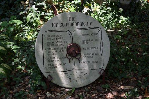 Ten Commandments, Religion, Bible, Stone, Christian