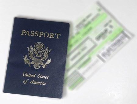 Passport, Ticket, Flight, Usa, Travel, Tourism