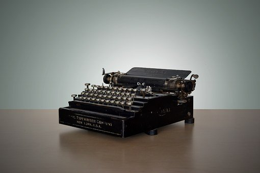 Vintage, Typewriter, Write, New York, Letters