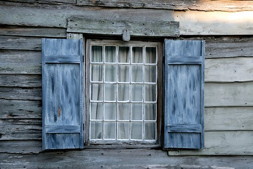 Vintage Window, Wall, Wooden, Background, Architecture