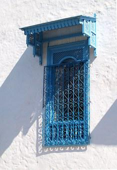 Carthage, Window, Tunis, Old Town, Blue, White Walls