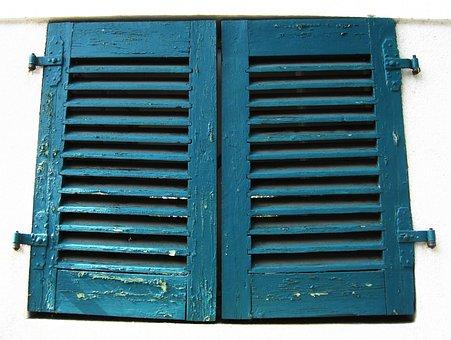 Old Shutters, Rustic, Old, Window, Wooden Windows