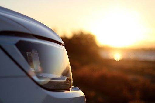 Tiguan, Volkswagen, Cars, Sunset, Car Headlights, Car