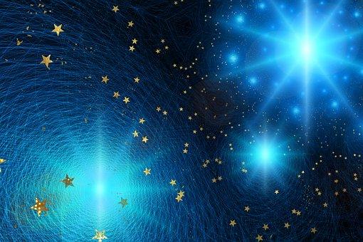 Star, Light, Space, Christmas, Gloss, Universe, Circle