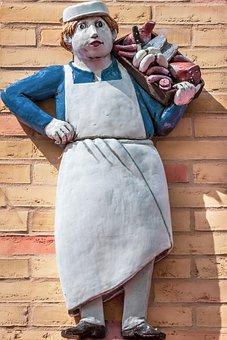 Butcher, Figure, Art, Ceramic, Glaze, Colorful