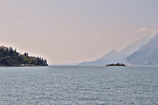 Garda, Malcesine, Lake, Water, Vacations, Sky, Sun
