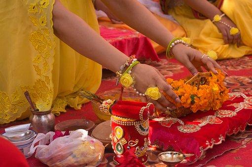 Haldi, Ceremony, Rituals, India, Culture, Marriage