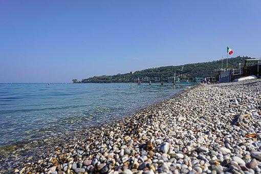 Pebble Beach, Salò, Italian Flag, Italian Lake