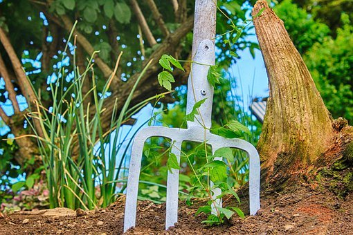 Tool, Garden, Forke, Pitchfork, Old, Rusted, Deco