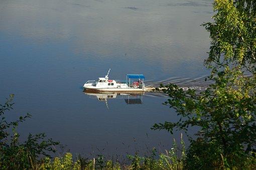 River, Boat, Water, Reflection, Ship