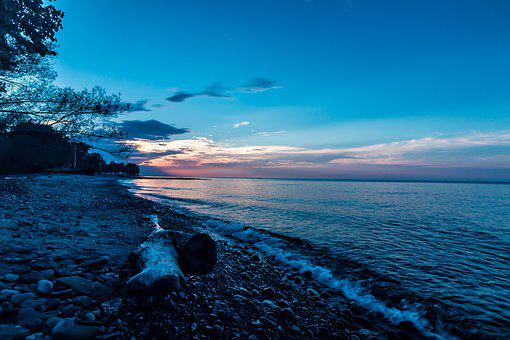 Lake, Erie, Ohio, Water, Sky, Clouds, Nature, Landscape