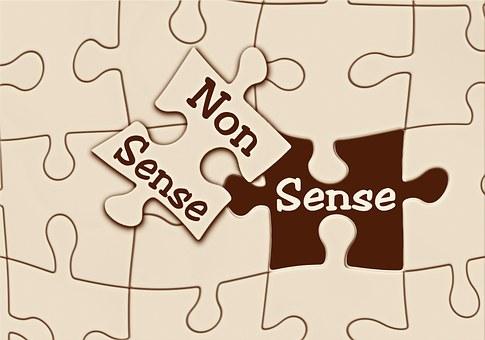 Puzzle, Sense, Nonsense, Useful, Stupid