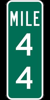 Mile Marker, Highway, Sign, Travel, Traffic, Distance