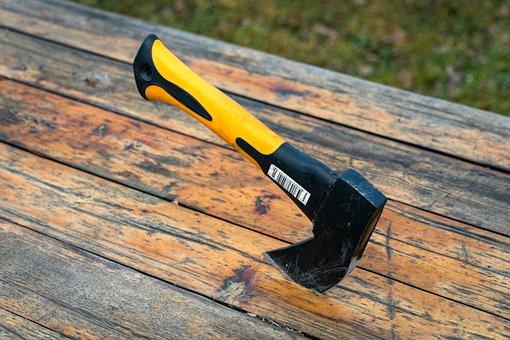 Axe, Table, Hand Tool, Steel, Metal, Tree, Tool, Old