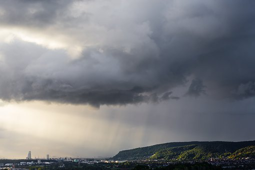 Landscape, Weather, Rain, Clouds, Sky, Basle, Basel