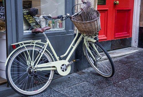 Bike, Basket, Shop, Cycling, Bicycle