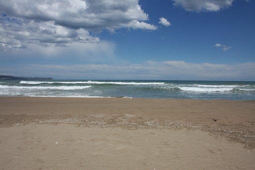 Beach, Sea, St Pere De Pescador, Spain, Water, Blue Sky