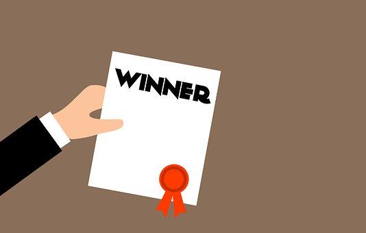 Winner, Certificate, Diploma, Background, Hand