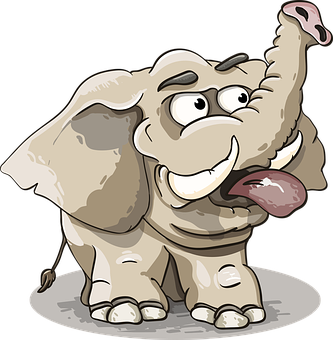 Elephant, Grey, Trunk, Tusks, The Language, Funny, Cute