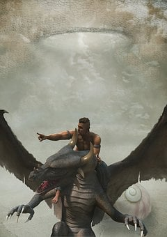 Fantasy, End Time, Dragons, Reiter
