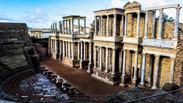 Roma, Merida, Extremadura, Theatre, Old