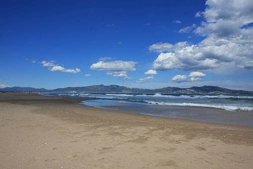 Beach, Sea, St Pere De Pescador, Spain, Sky, Catalonia