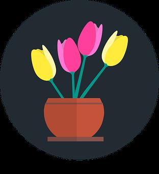 Tulips, Flowers, Vase, Floral Spring