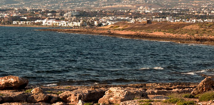 Sea, Seascape, Water, Nature, Cyprus, Shore, Paphos